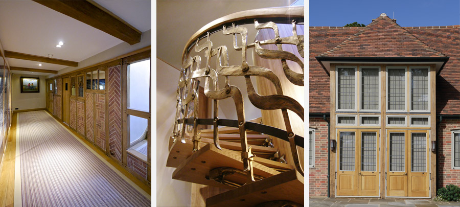 Arts & Crafts House Interior Staircase Design Detail